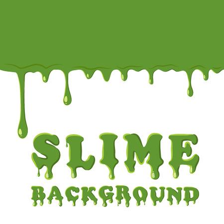 slime: Slime oozing background. Green slime vector illustration