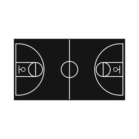 flooring: Basketball field icon in simple style on a white background vector illustration