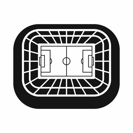 real tennis: Stadium top view icon in simple style on a white background vector illustration Illustration