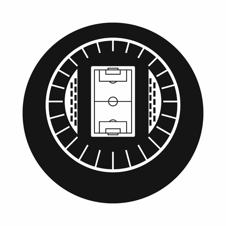 real tennis: Round stadium top view icon in simple style on a white background vector illustration