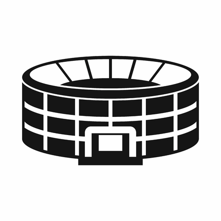real tennis: Stadium icon in simple style on a white background vector illustration