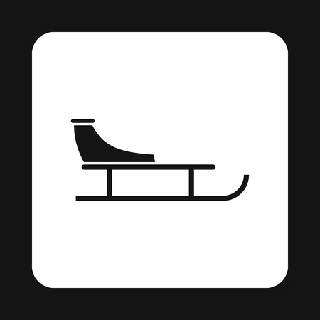 Sled icon in simple style on a white background vector illustration Illustration