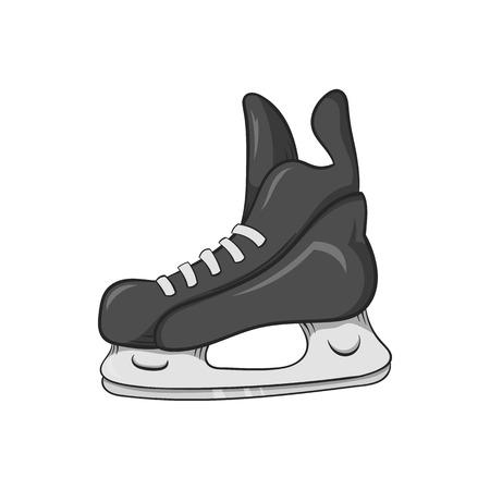 Skates icon in black monochrome style isolated on white background. Sport symbol vector illustration