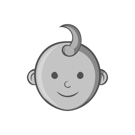 babys: Babys face icon in black monochrome style isolated on white background. Children symbol vector illustration