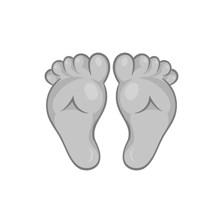 Babys legs icon in black monochrome style isolated on white background. Children symbol vector illustration