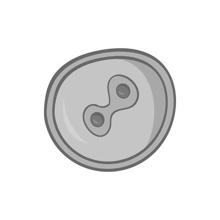fertilized egg: Fertilized egg icon in black monochrome style isolated on white background. Pregnancy symbol vector illustration Illustration