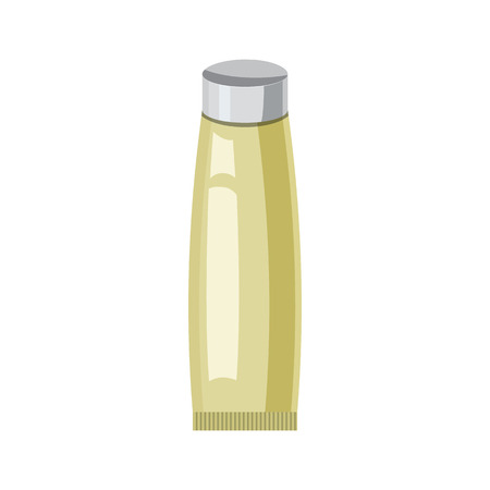 aftershave: Cosmetic tube for cream in cartoon style isolated on white background vector illustration Illustration