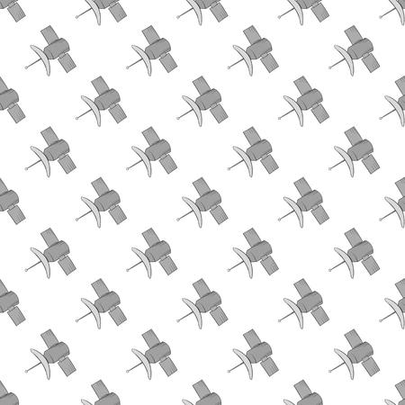 conveys: Satellite seamless pattern on white background. Navigation design vector illustration