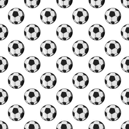 weave ball: Soccer ball seamless pattern on white background. Game design vector illustration Illustration