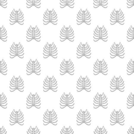 ribs: Ribs seamless pattern on white background. Human bones design vector illustration
