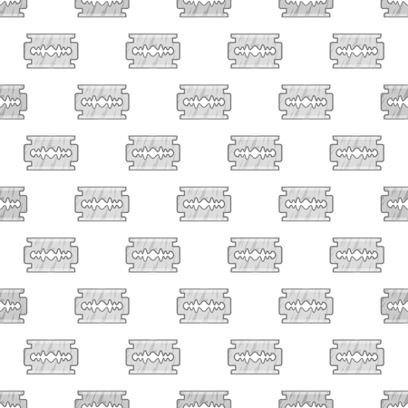 blade cut: Blade seamless pattern on white background. Cut design vector illustration Illustration