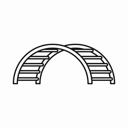 climbing stairs: Climbing stairs on a playground icon in outline style on a white background vector illustration