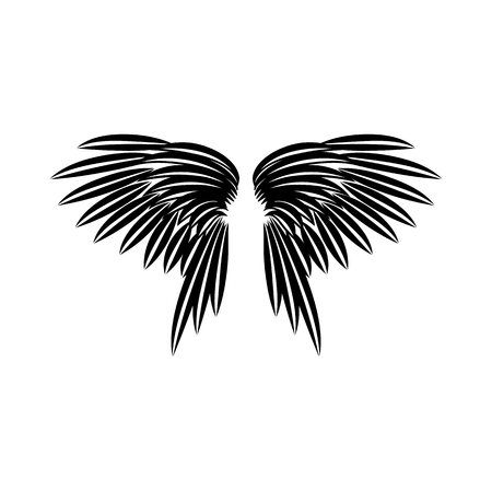 Wings icon in simple style on a white background vector illustration