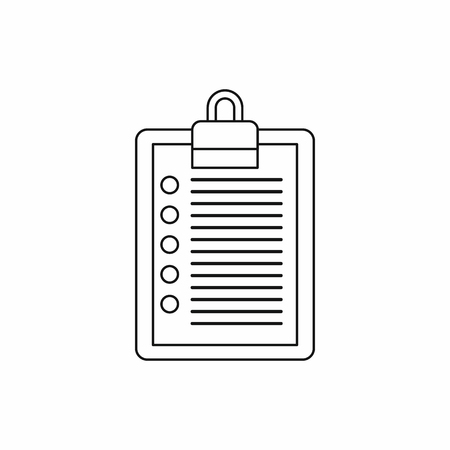 to do list icon in outline style on a white background vector illustration stock vector