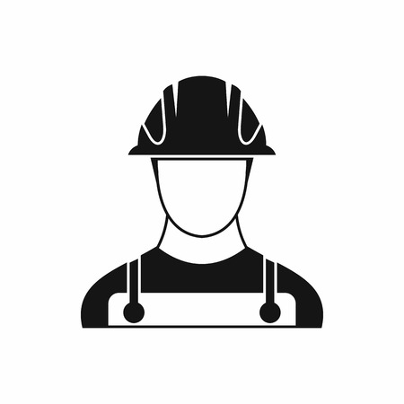 construction icon: Builder icon in simple style on a white background vector illustration Illustration