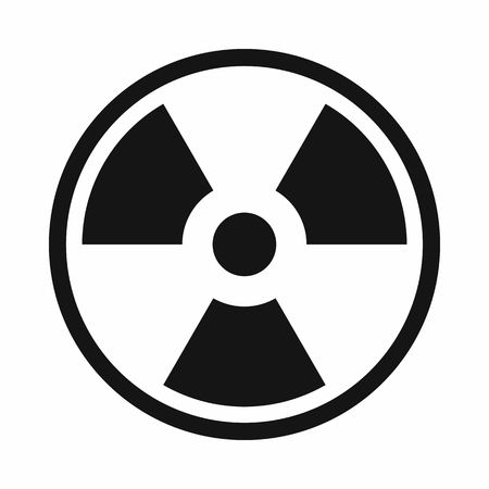 irradiation: Danger nuclear in simple style isolated on white background vector illustration Illustration