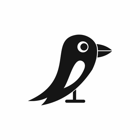Social network bird in simple style isolated on white background vector illustration