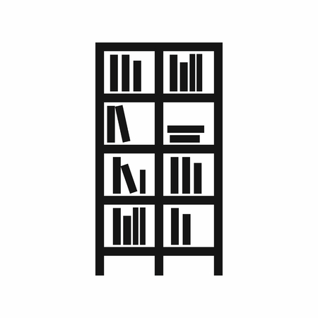 bookcase: Bookcase in simple style isolated on white background vector illustration