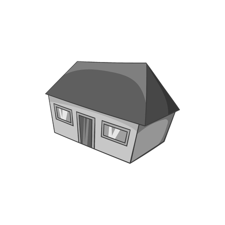 large house: Large residential house icon in black monochrome style isolated on white background. Building symbol vector illustration