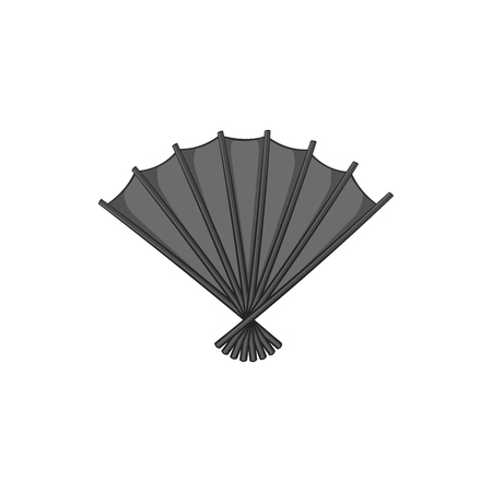 black fan: Fan icon in black monochrome style isolated on white background. Accessories symbol vector illustration Illustration
