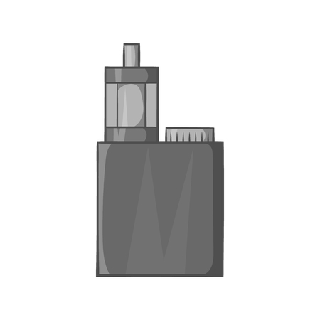 mod: Mod and clearomizer in the kit icon in black monochrome style isolated on white background. Smoking symbol vector illustration