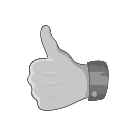 gesture approval icon in black monochrome style isolated on white