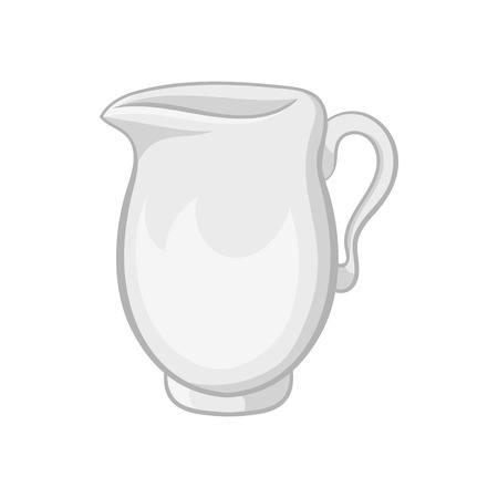 quench: Glass jug icon in black monochrome style on a white background vector illustration
