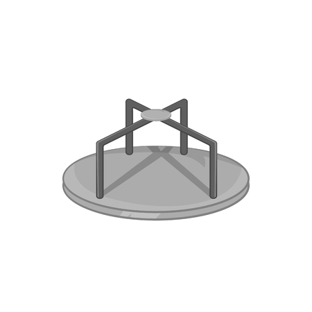 merry go round: Merry go round icon in black monochrome style on a white background vector illustration