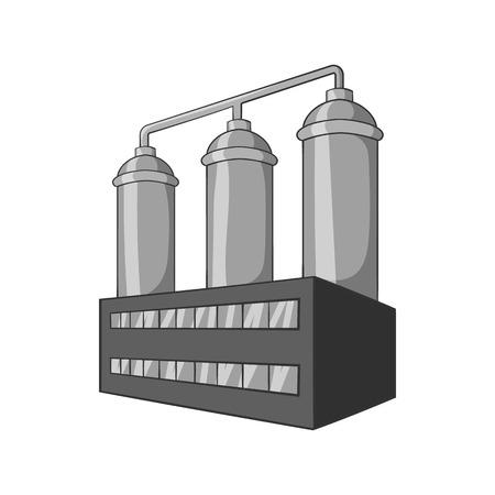 bottling: Wort preparation icon in black monochrome style isolated on white background. Production of alcohol symbol vector illustration Illustration