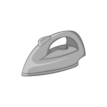 black appliances: Iron icon in black monochrome style isolated on white background. Appliances symbol vector illustration Illustration