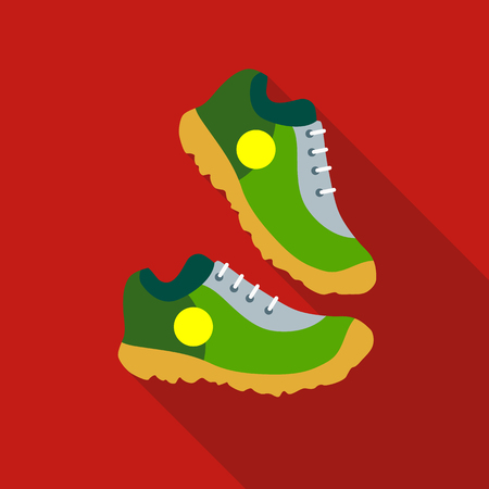 Sneakers icon in flat style isolated with long shadow vector illustration Illustration