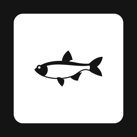 creatures: Salmon icon in simple style isolated on white background. Sea creatures symbol vector illustration