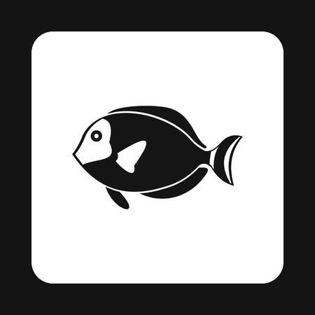tang: Surgeon fish icon in simple style isolated on white background. Sea creatures symbol vector illustration