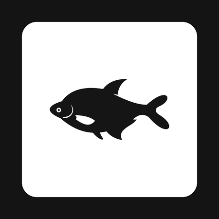sea creatures: Fish icon in simple style isolated on white background. Sea creatures symbol vector illustration
