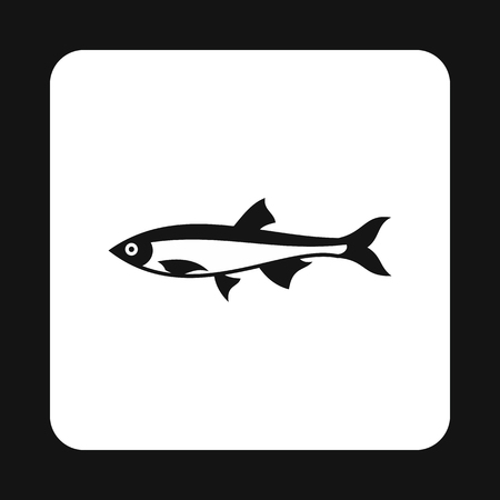sea creatures: Herring icon in simple style isolated on white background. Sea creatures symbol vector illustration Illustration