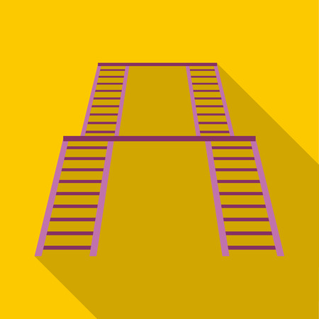 Ladder on the playground icon in flat style isolated with long shadow vector illustration