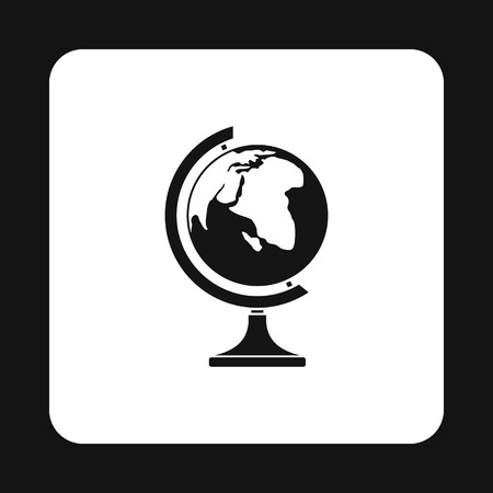 terrestrial: Terrestrial globe icon in simple style on a white background vector illustration
