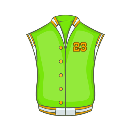 collegiate: Baseball jacket icon in cartoon style isolated on white background vector illustration