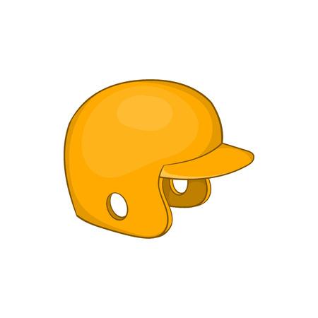 Baseball helmet icon in cartoon style isolated on white background vector illustration Illustration