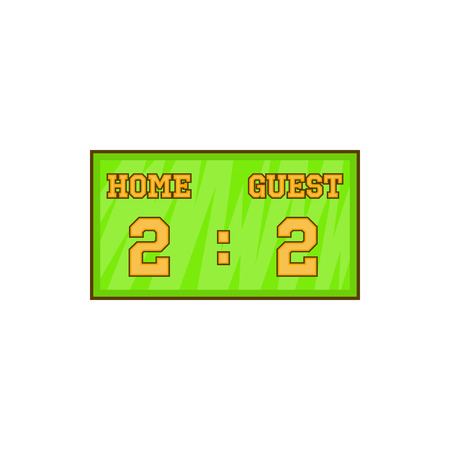 score: Baseball score board icon in cartoon style isolated on white background vector illustration