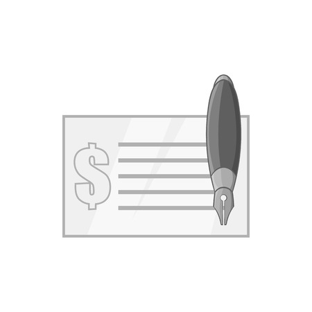 windfall: Checkbook icon in black monochrome style isolated on white background. Payment symbol vector illustration
