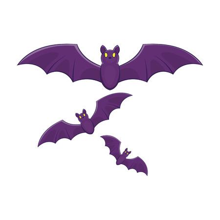 Halloween bats icon in cartoon style isolated on white background vector illustration Illustration