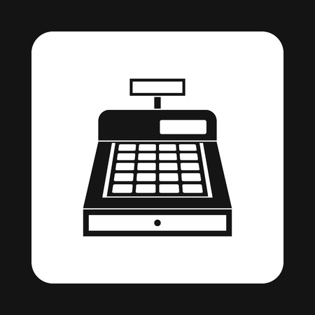 departmental: Sale cash register icon in simple style on a white background vector illustration Illustration