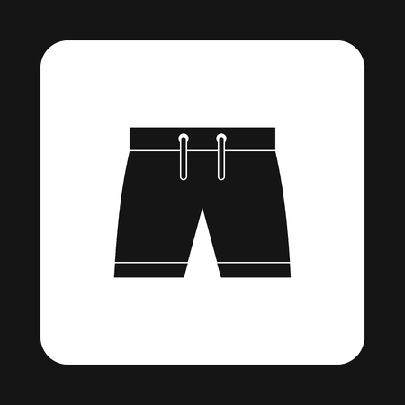 boardshorts: Shorts for swimming icon in simple style on a white background vector illustration