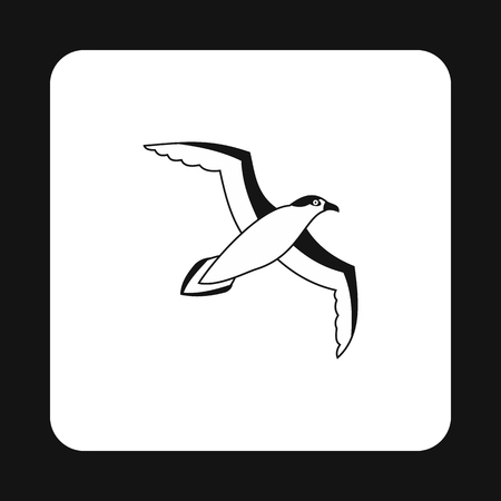 seabird: Sea gull icon in simple style on a white background vector illustration Illustration