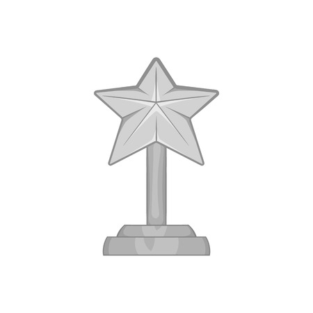 star award: Award star icon in black monochrome style isolated on white background. Rewarding symbol vector illustration Illustration
