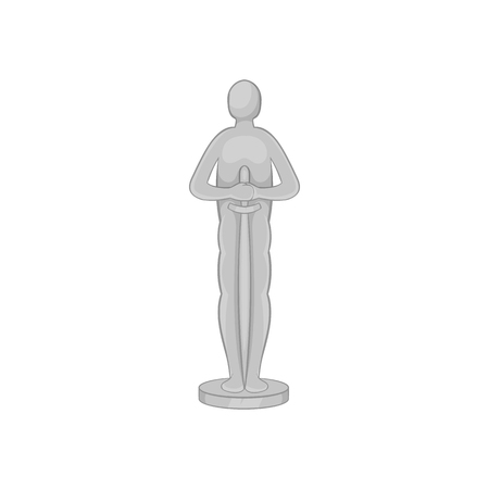 rewarding: Movie award icon in black monochrome style isolated on white background. Rewarding symbol vector illustration