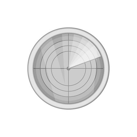 blip: Radar icon in black monochrome style isolated on white background. Installation symbol vector illustration