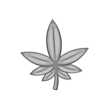 Marijuana icon in black monochrome style isolated on white background. Drug symbol vector illustration Illustration