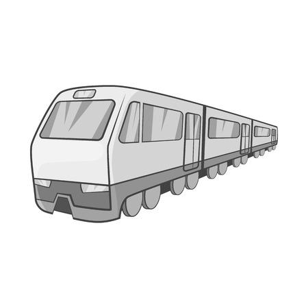 electric train: Suburban electric train icon in black monochrome style on a white background vector illustration